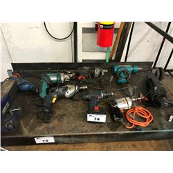 LOT OF ASSORTED HANDHELD POWER TOOLS