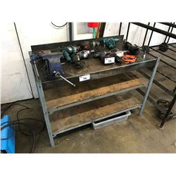 METAL WORK BENCH AND VICE
