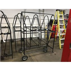 APPROX. 5' MOBILE TIRE STAND WITH PULLER