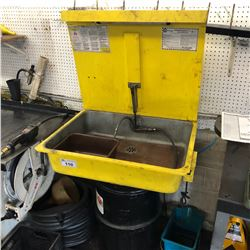 YELLOW PARTS WASHER