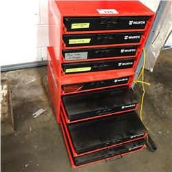 2 WURTH PARTS BINS WITH CONTENTS