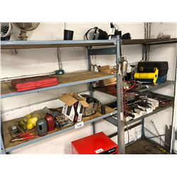 2 BAYS OF METAL PARTS RACKING WITH ASSORTED AUTOMOTIVE RELATED CONTENTS