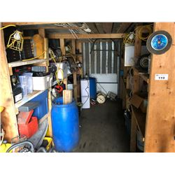 CONTENTS OF SEA CAN INC. PARTS TOOL, ELECTRICAL, BARRELS AND MORE