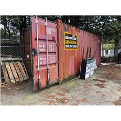 SEA CONTAINER, 8.6' TALL, APPROX. 20' LONG, 62,174 LB PAYLOAD CAPACITY, 1166 CU. FT.