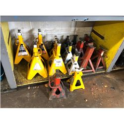 LOT OF APPROX. 15 ASSORTED JACK STANDS