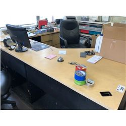 CONTENTS OF FRONT OFFICE INC. DESK, FILE CABINETS, PAPER SHREDDER AND MORE
