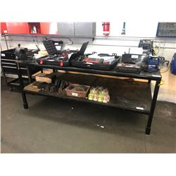 4' X 8' HEAVY DUTY STEEL WORK BENCH WITH VISE