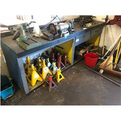 8' STEEL TOP WORK BENCH WITH DRAWERS