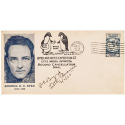 ADMIRAL RICHARD E. BYRD Signed Commemorative U.S. Stamp First Day Cover