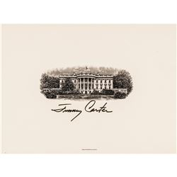 President JAMES EARL / JIMMY CARTER Signed White House Official BEP Printed Card