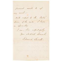 1846 EDWARD EVERETT Autograph Letter Signed