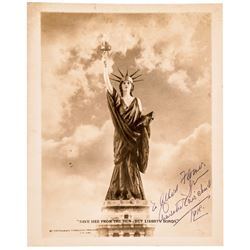 1918 WW I Charlotte Fairchild Signed and Inscribed Patriotic Photograph