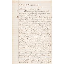 BENJAMIN HARRISON 23rd US President Legal Document Signed as: Porter + Harrison