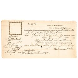Gen. BENJAMIN LINCOLN + THOMAS MELVILLE (Herman Melvilles Grandfather) Archive