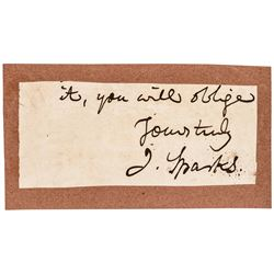 JARED SPARKS Cut Signature Harvard University President G. Washington Biographer
