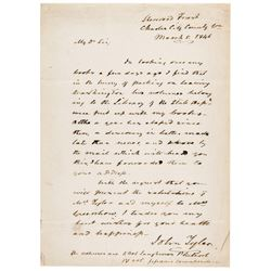 March 5, 1846 JOHN TYLER ALS Having Left Washington with Two State Dept. Books