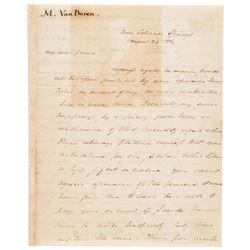 1832 MARTIN VAN BUREN Autograph Letter Signed 3 Pages with Integral Address Leaf