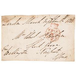 1828 ARTHUR WELLESLEY, DUKE OF WELLINGTON Envelope Address Panel Franked