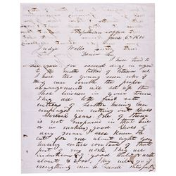 HENRY WILSON Autograph Letter Signed 18th U.S. V.P. Under President U. S. Grant