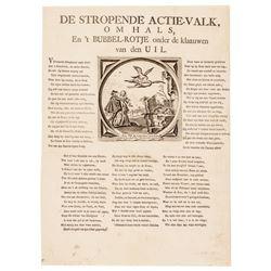c. 1720 Broadside Satirizing John Law Mississippi Company Land Scheme Bubble!