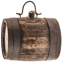 c. 1770-1780s Revolutionary War Era Soldie's Camp Canteen / Powder Barrel