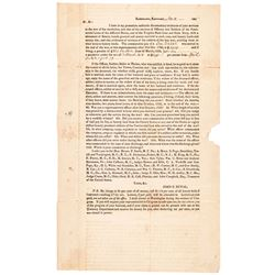 1825 Kentucky Document Re: Revolutionary War Veterans Pensions Collect for a Fee
