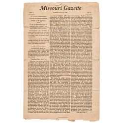July 26, 1808-Dated, Missouri Gazette, St. Louis, Louisiana, Volume 1, No. 3