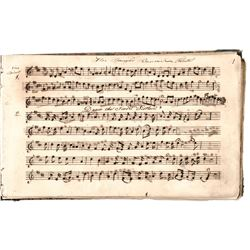 c. 1820-40s Vintage Volume of Handscored American Patriotic Manuscript Music