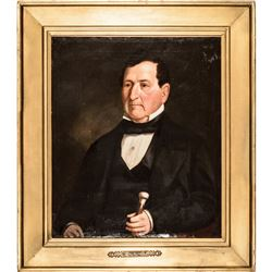 1856-Dated, Original Oil Painting of New Jersey Governor Aaron Ogden (1756-1839)
