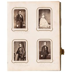 Album of 154 CDV Photos Important American Civil War Political Military Figures
