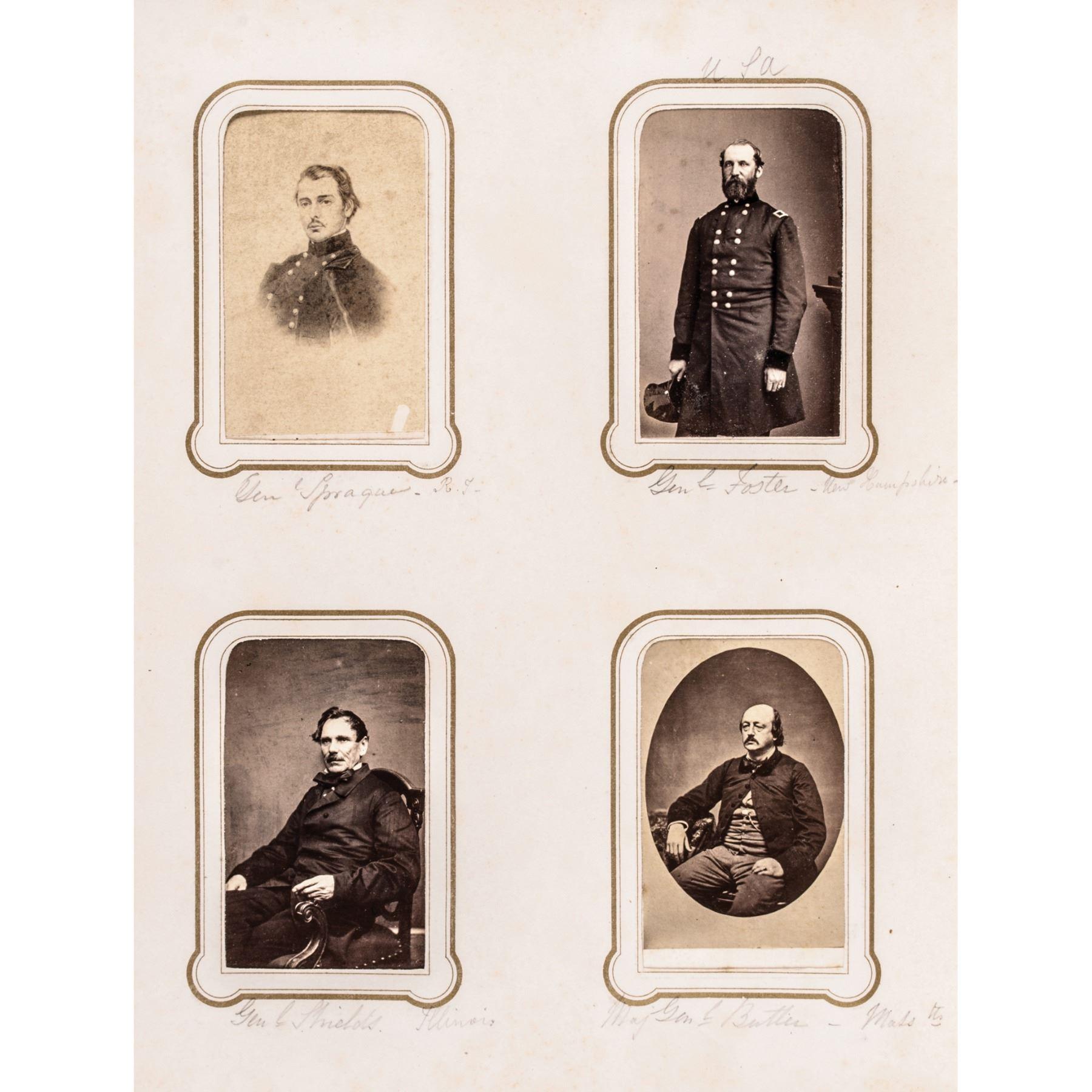 Album of 154 CDV Photos Important American Civil War Political Military  Figures