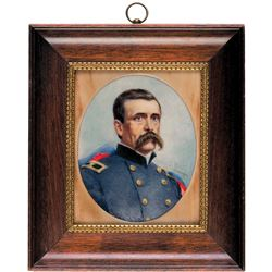 1862-Dated Miniature Painting of Civil War Union Brigadier General LOUIS BLENKER