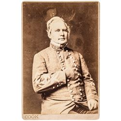 c. 1865 Civil War Cabinet Card Photograph of Confederate General Sterling Price