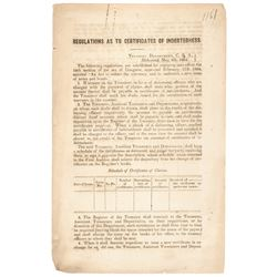 May 5, 1864-Dated Civil War Period Printed Document, Near Mint.