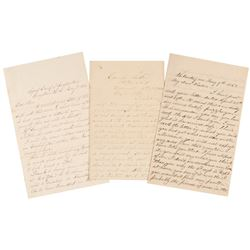 Three Civil War Dated Letters by Union Soldiers, Dated in 1862, 1863, 1864