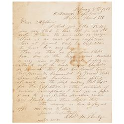 1863 Civil War Period Good Content Union Soldiers Letter from Hilton Head, SC