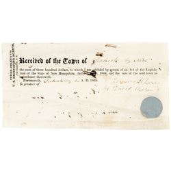 1864 Union Draft $300 Commutation NH. Recruiting Agent's Substitution Payment