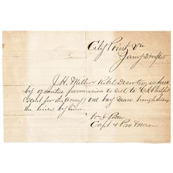 1865 Civil War Union Pass, Rebel Deserter Can Sell His Horse to a US Army Scout!