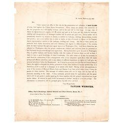 1862 Civil War WAR CLAIMS Against U.S., Printed Advertising Letter