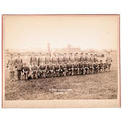 c 1860 St. Johns Academy Cadets - Alexandria, Va. Large Albumen Photograph