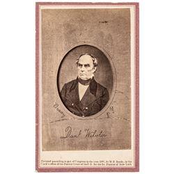 1861 Daniel Webster Carte de Visite Brady Photograph from a Mathew Brady Photo