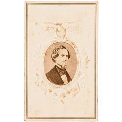 c. 1861 Civil War Confederate President Jefferson Davis, Brady Photograph CDV
