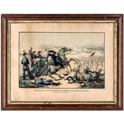 c 1862 Lithograph, Battle of Baton Rouge, Aug. 6th, 1862 Death of Gen. Williams