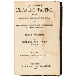 1865 Civil War MILITARY BOOK by Silas Casey, Instruction on Infantry Tactics