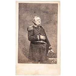 Winfield Scott - Old Fuss and Feathers - Carte De Visite Photograph