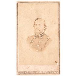 1862 Carte de Visite Photograph Confederate General John Hunt Morgan by Anthony
