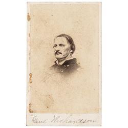 Major General Israel B. Richardson Mortally Wounded at Antietam CDV Photograph
