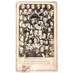 Civil War Era Carte de Visite Photograph of 51 Confederate Officers + Leaders