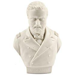 Superb c. 1864 Pedestal Display Bust of Three-Star Lt. General Ulysses S. Grant