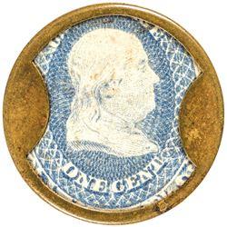 Encased Postage Stamp, F. BUHL + CO., Detroit. One Cent. FR. EP-8, HB-67, S-38